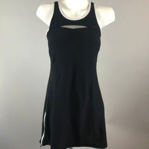 Athleta Black White Smash Tennis Athletic Dress Sm